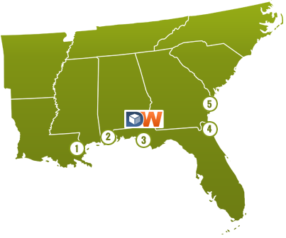 Major Ports Near Dothan Warehouse